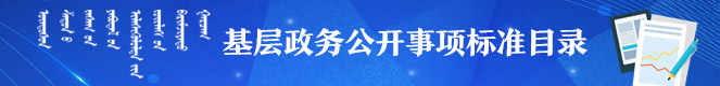 基层政务公开事项标准目录